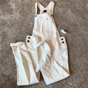 GAP cream colored overalls